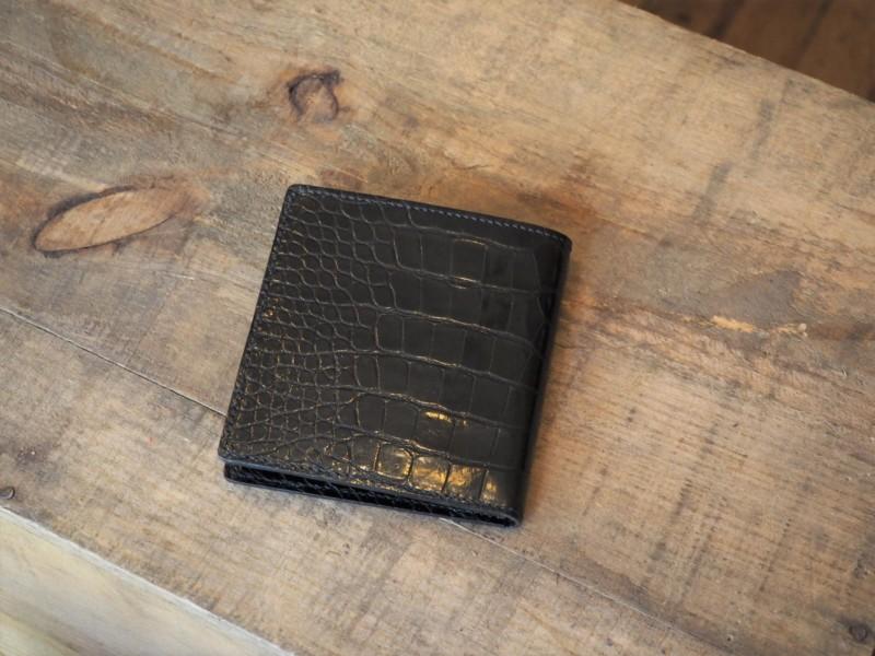 (リメイクオーダー)クロコダイル二つ折りカード財布