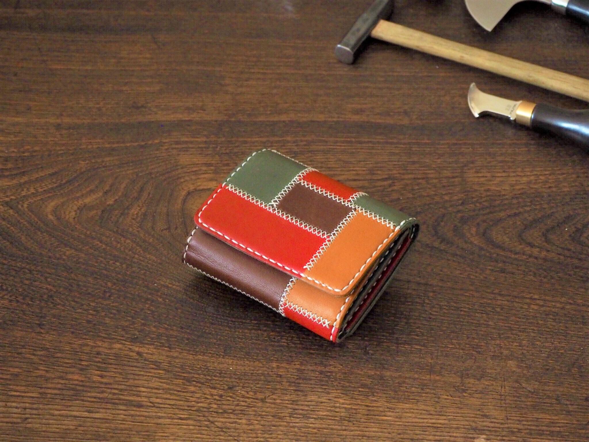 (フルオーダーメイド)パッチワーク三つ折り財布