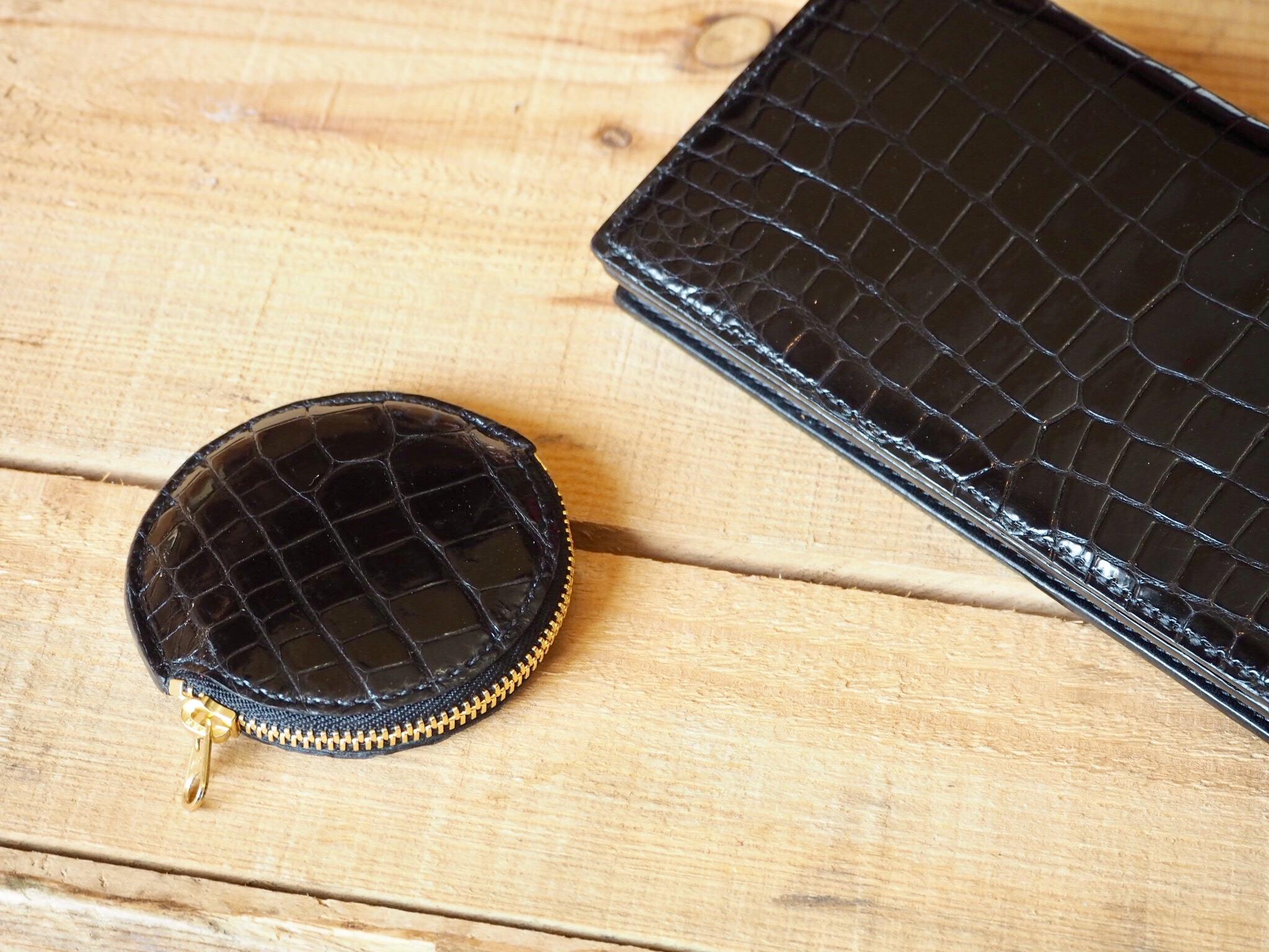 (リメイクオーダー)クロコダイル長財布&丸形コインケース