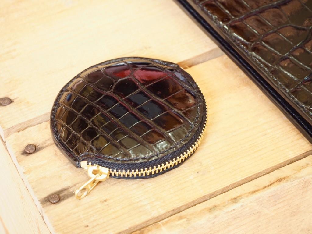 (リメイクオーダー)クロコダイル丸形コインケース