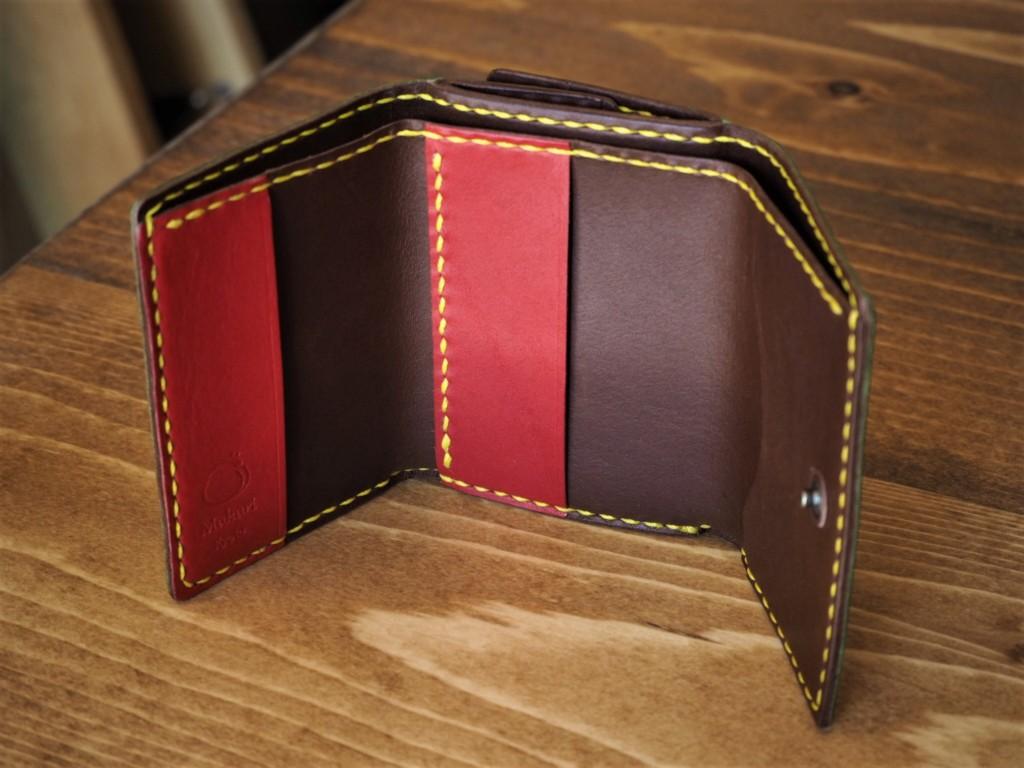 (フルオーダーメイド)コンパクト三つ折り財布(内側)