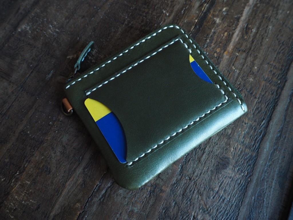 (フルオーダーメイド)L字ファスナー財布カードポケット