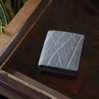(試作品)ゾウ革コンパクト二つ折り財布