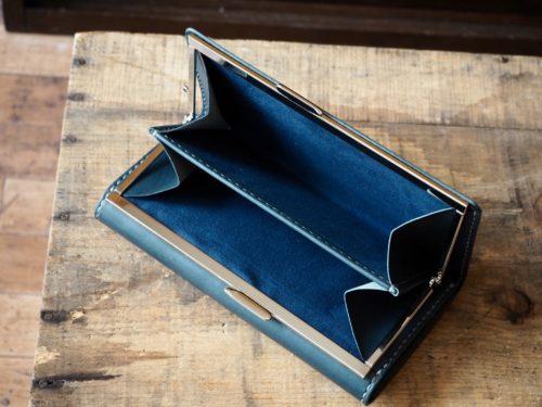 (カスタムオーダー)外がま口付長財布