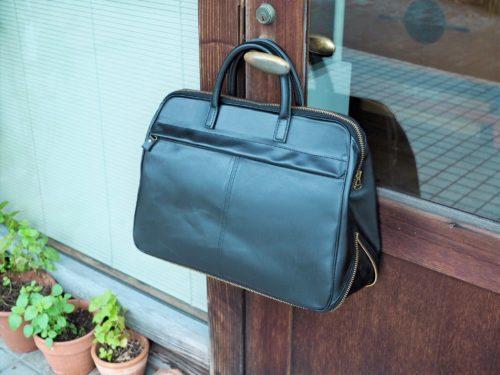 (フルオーダーメイド)底ファスナーマチ付きビジネスバッグ