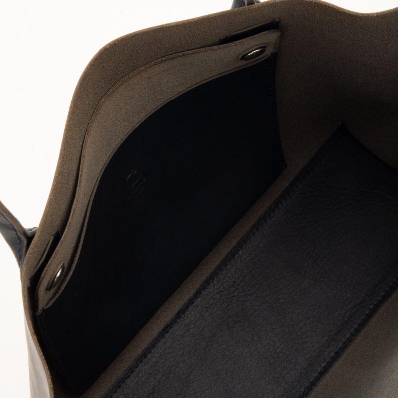 一枚革トートバッグA4 ネイビー