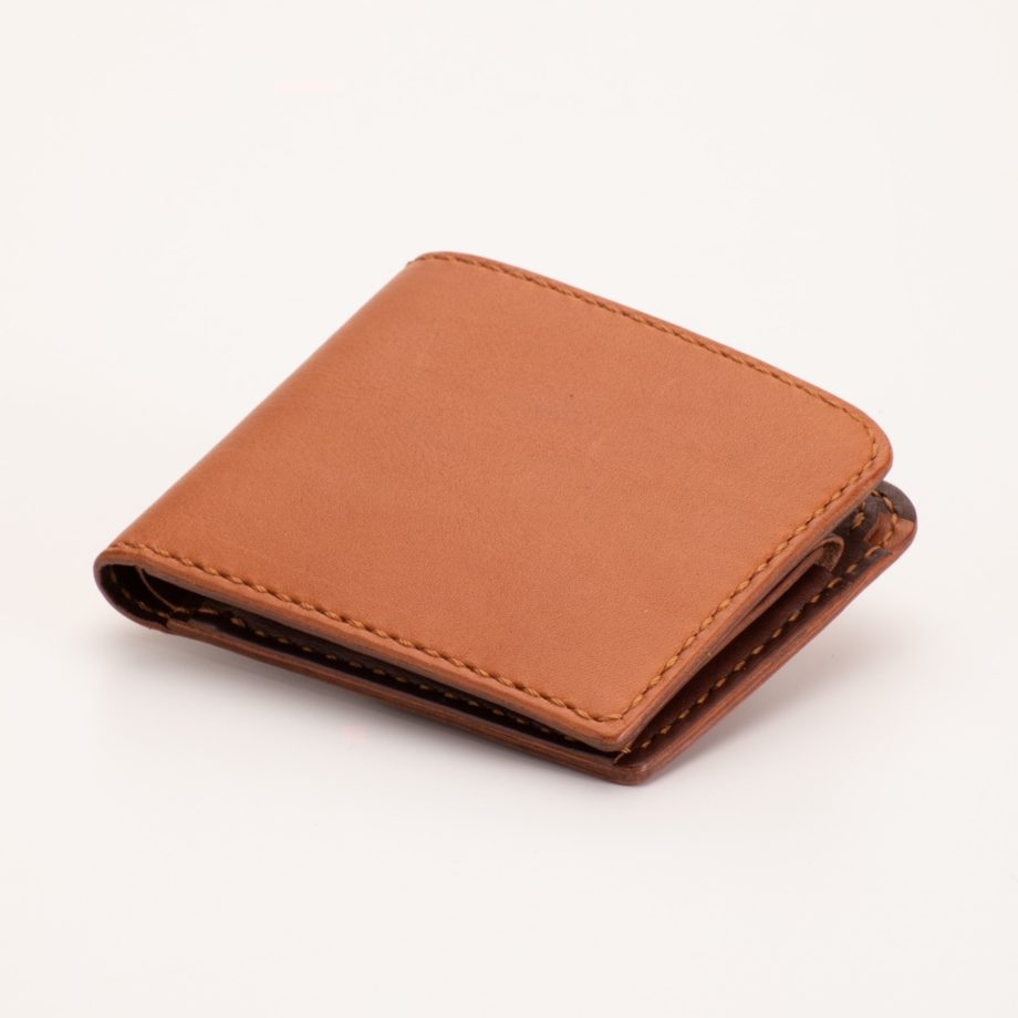 二つ折り財布 キャメル