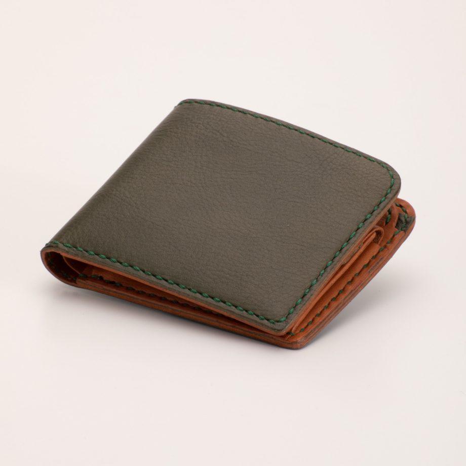 二つ折り財布 グリーン