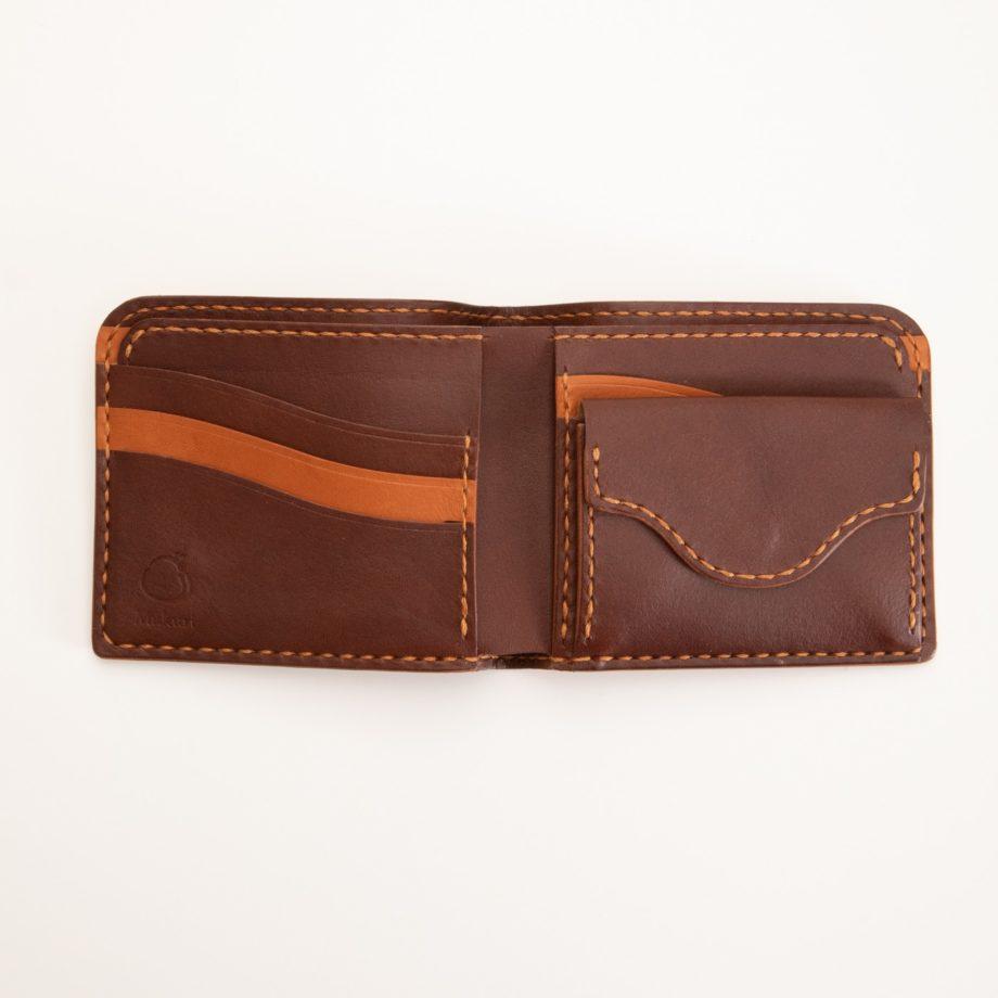 二つ折り財布 ブラウン