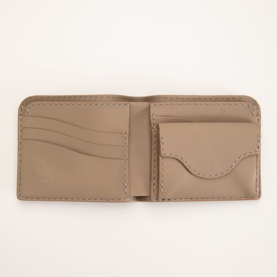 二つ折り財布 グレー
