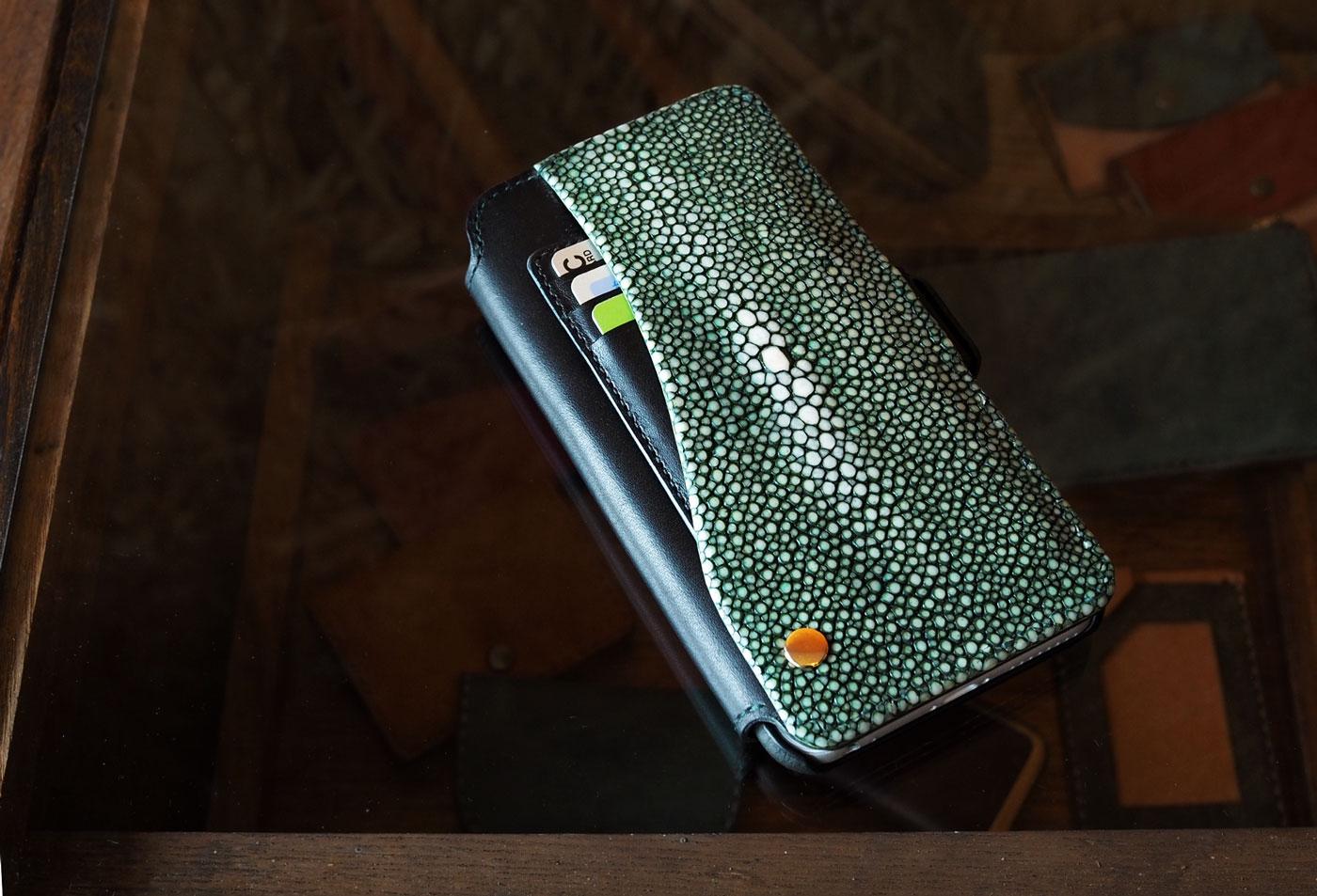 (オーダーメイド)エイ革iphone7PLUS手帳型ケース