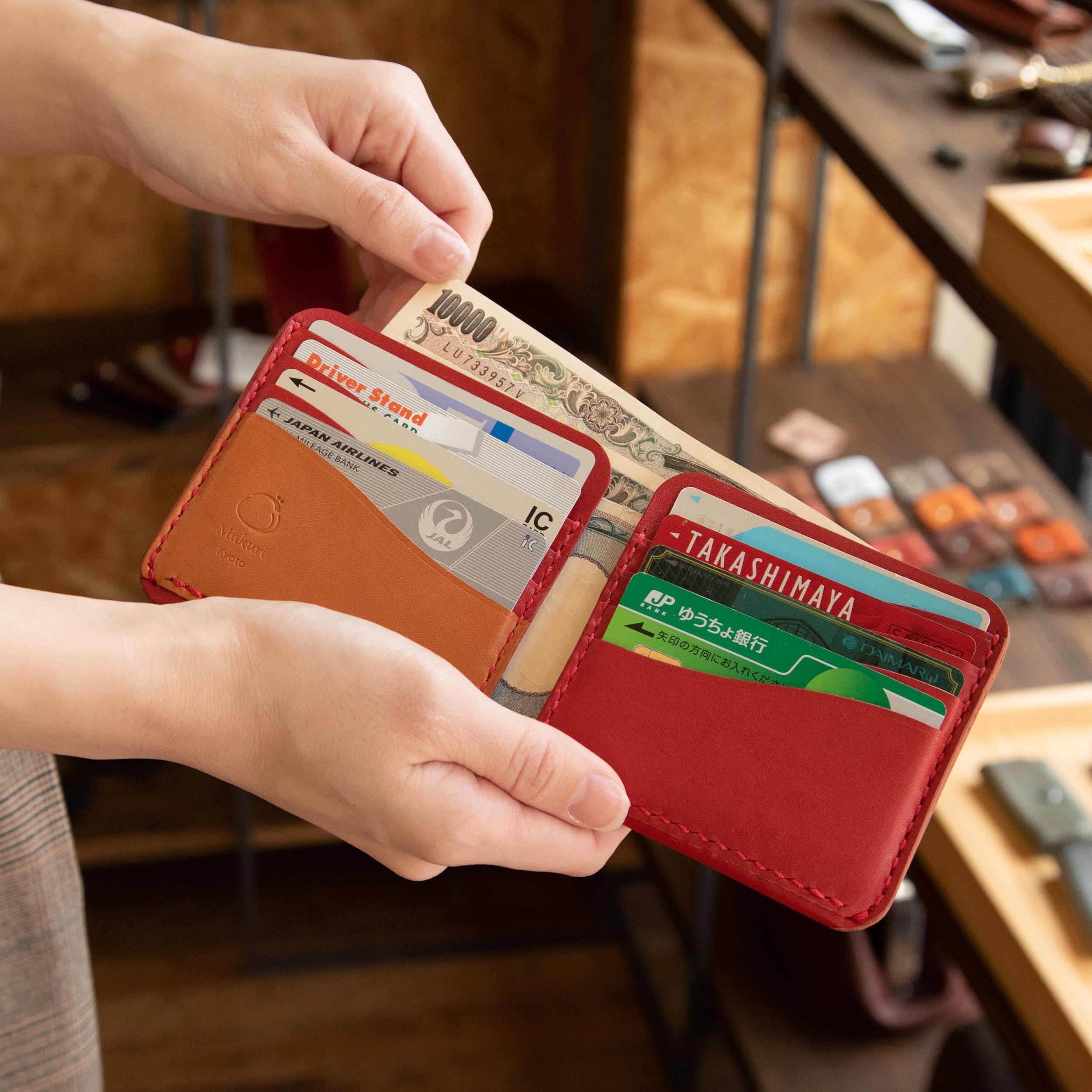 カード&お札ホルダー むくり