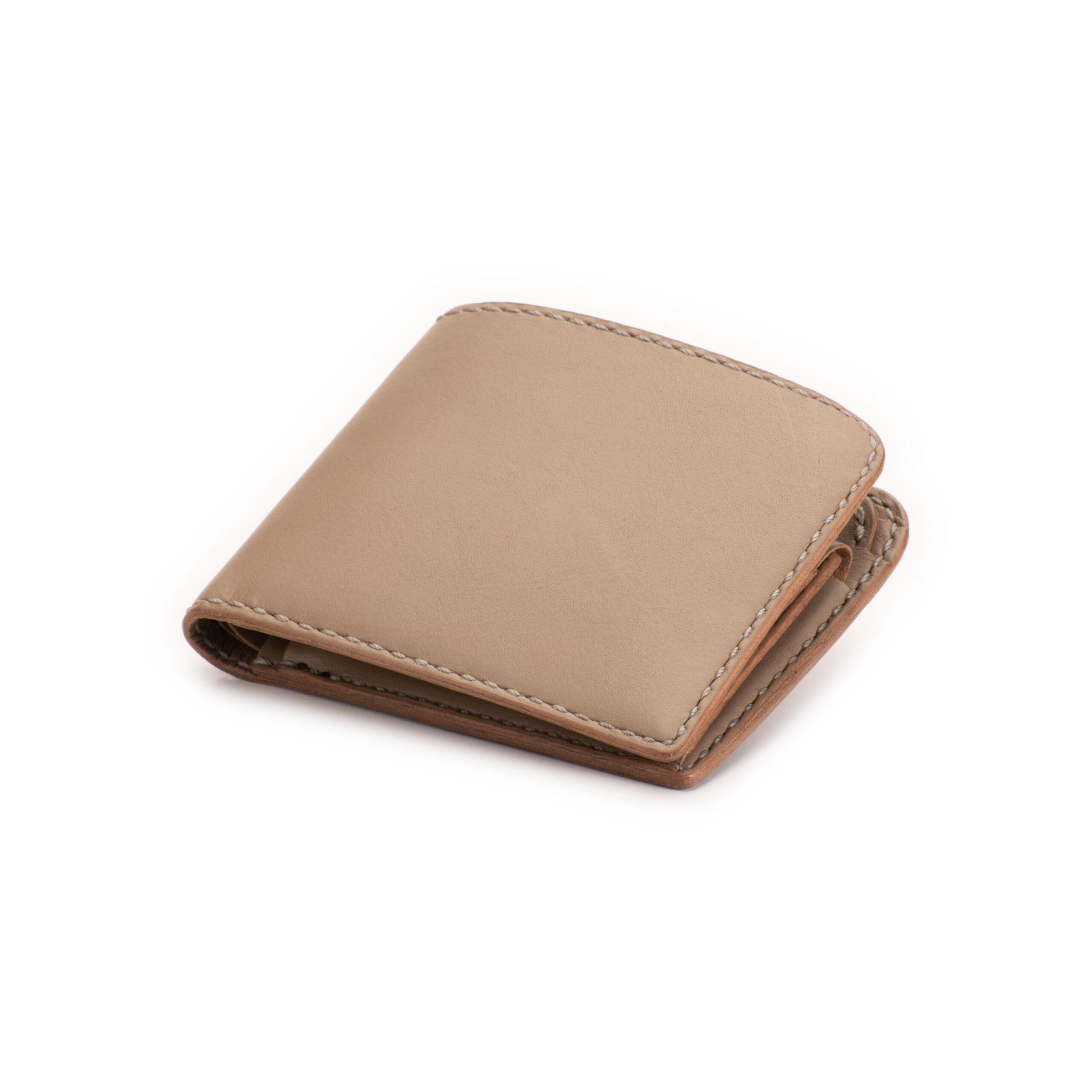 二つ折り財布 むくりグレー
